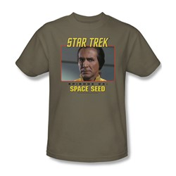 St:Original/Space Seed - Adult Safari Green T-Shirt For Men