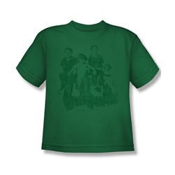 Little Rascals - The Gang - Big Boys Kelly Green S/S T-Shirt For Boys