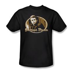 Dean - Looking Back - Adult Black S/S T-Shirt For Men