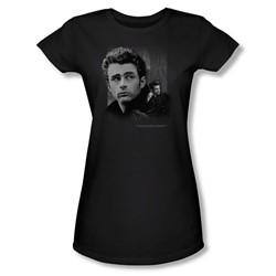 Dean - Not Forgotten - Juniors Black Sheer Cap Sleeve T-Shirt For Women