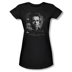 Dean - Dream Live - Juniors Black Sheer Cap Sleeve T-Shirt For Women