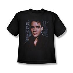 Elvis - Tough - Big Boys Black S/S T-Shirt For Boys