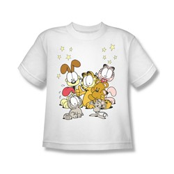 Garfield - Friends Are Best - Big Boys White S/S T For Boys