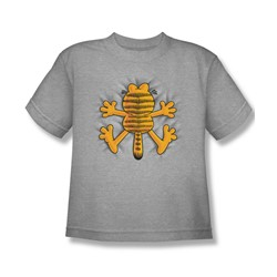 Garfield - Ow - Big Boys Ath. Heather S/S T-Shirt For Boys