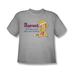 Garfield - State Your Business - Big Boys Heather S/S T-Shirt For Boys