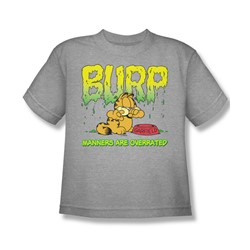 Garfield - Manners - Big Boys Athletic Heather S/S T-Shirt For Boys