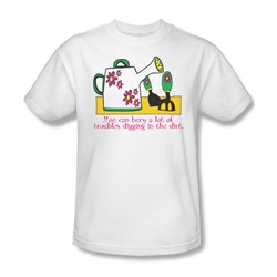 Garden - Burying Troubles Adult White S/S T-Shirt For Men