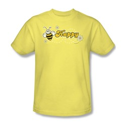 Garden - Bee Happy Adult Banana S/S T-Shirt For Men