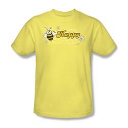 Garden - Bee Happy Adult Banana S/S T-Shirt For Men