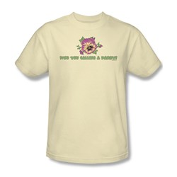 Garden - Who You Calling A Pansy Adult Cream S/S T-Shirt For Men