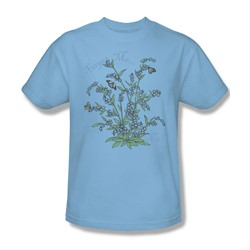 Garden - Forget Me Not Adult Light Blue S/S T-Shirt For Men