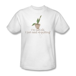 Garden - Old Gardener Adult White S/S T-Shirt For Men