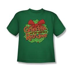Grandma - Grandma Logo - Big Boys Kelly Green S/S T-Shirt For Boys