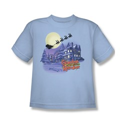 Grandma - Face In The Snow - Big Boys Lt Blue S/S T-Shirt For Boys