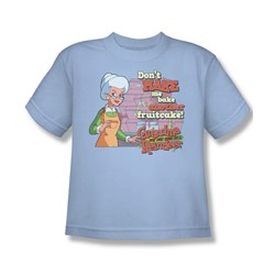 Grandma - Fruitcake Threat - Big Boys Lt Blue S/S T-Shirt For Boys