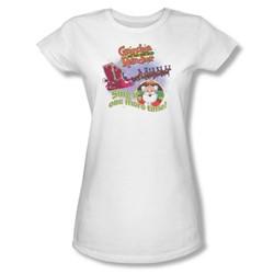 Grandma - All About The Song - Juniors White Sheer Cap Slv T For Women