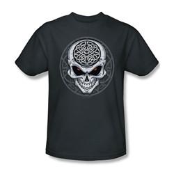 Celtic Skull - Adult Charcoal S/S T-Shirt For Men