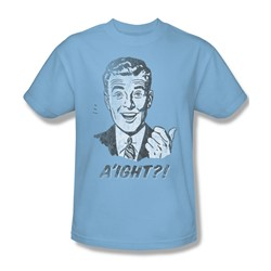 A'Ight - Adult Lt Blue S/S T-Shirt For Men