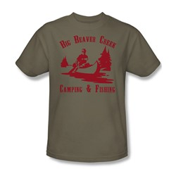 Big Beaver Creek - Adult Safari Green S/S T-Shirt For Men