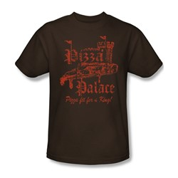 Pizza Palace - Adult Coffee S/S T-Shirt For Men