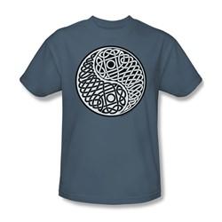 Celtic Ying Yang - Adult Slate S/S T-Shirt For Men