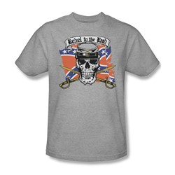Rebel To The End - Adult Heather S/S T-Shirt For Men