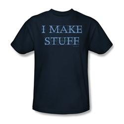 I Make Stuff - Adult Navy S/S T-Shirt For Men