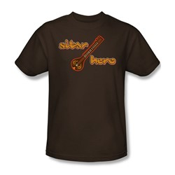 Sitar Hero - Adult Coffee S/S T-Shirt For Men