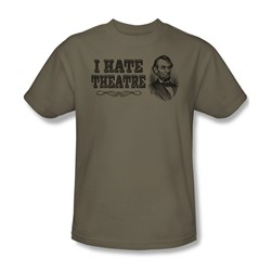 I Hate Theatre - Adult Texas Orange S/S T-Shirt For Men