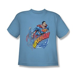 Superman - Up Up And Away - Youth Carolina Blue S/S T-Shirt -  For Boys