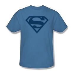 Superman - Blue&Navy Shield - Adult Carolina Blue S/S T-Shirt For Men