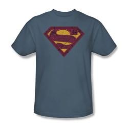 Superman - Celtic Shield - Adult Slate S/S T-Shirt For Men