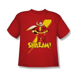 Shazam Shazam! Big Boys S/S T-shirt in Red by DC Comics