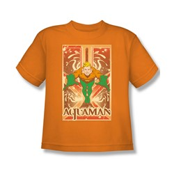 Aquaman Big Boys S/S T-shirt in Orange by DC Comics