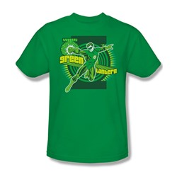 Green Lantern Adult S/S T-shirt in Kelly Green by DC Comics