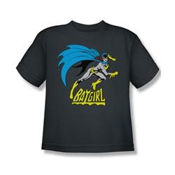 Batgirl Is Hot Big Boys S/S T-shirt in Charcoal by DC Comics