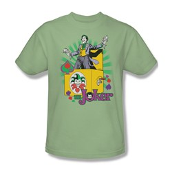 The Joker These Fish Are Loaded Adult S/S T-shirt in Wasabi by DC Comics