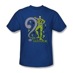 The Riddler The Riddler Adult S/S T-shirt in Royal by DC Comics