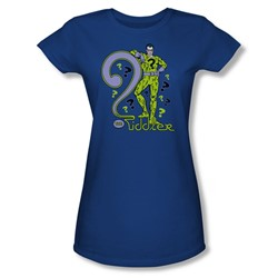 The Riddler The Riddler Juniors S/S T-shirt in Royal by DC Comics