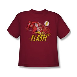 The Flash Crimson Comet Youth S/S T-shirt in Cardinal by DC Comics