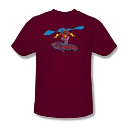 Red Tornado Red Tornado Adult S/S T-shirt in Cardinal by DC Comics