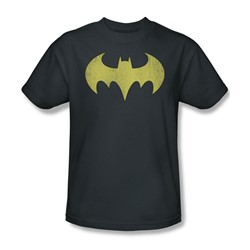 Batgirl Logo Distressed Adult S/S T-shirt in Charcoal by DC Comics