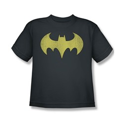 Batgirl Logo Distressed Big Boys S/S T-shirt in Charcoal by DC Comics
