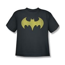 Batgirl Logo Distressed Big Boys S/S T-shirt in Charcoal by DC Comics