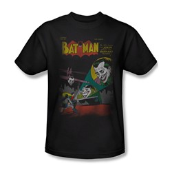 The Joker Wrong Signal Adult S/S T-shirt in Black by DC Comics