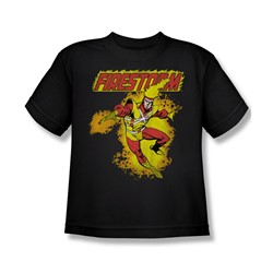 Firestorm Big Boys S/S T-shirt in Black by DC Comics