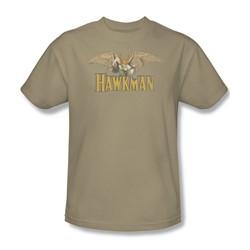 Hawkman Hawkman Adult S/S T-shirt in Sand by DC Comics