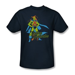 Martian Manhunter Martian Manhunter Adult S/S T-shirt in Navy by DC Comics