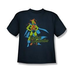 Martian Manhunter Martian Manhunter Big Boys S/S T-shirt in Navy by DC Comics