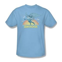 Hawkwoman Adult S/S T-shirt in Light Blue by DC Comics